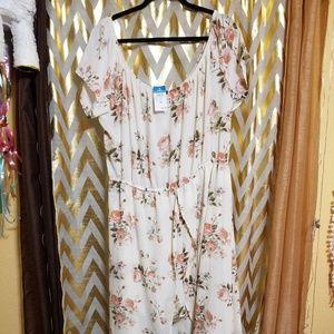 Off shoulder romper dress